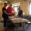 Woodblock demo, Painted Desert Inn
