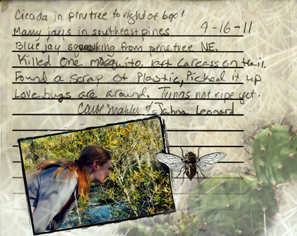 Journal entry by Carol and Jahna.