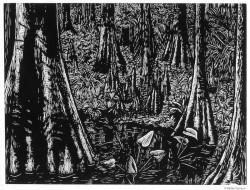 "Cypress Swamp - 18x24"""