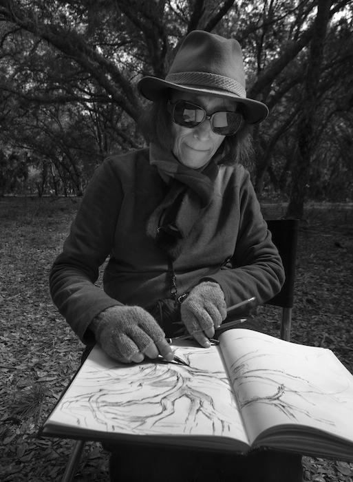 Sketching at Buck Island